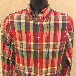 Ralph Lauren Classic Fit Flannel Shirt sz Medium
